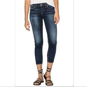 SILVER Santorini Blue Crop Jeans